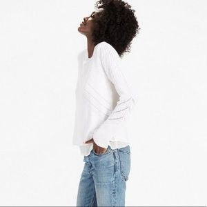 Lucky Brand | White Nico Pullover Sweater